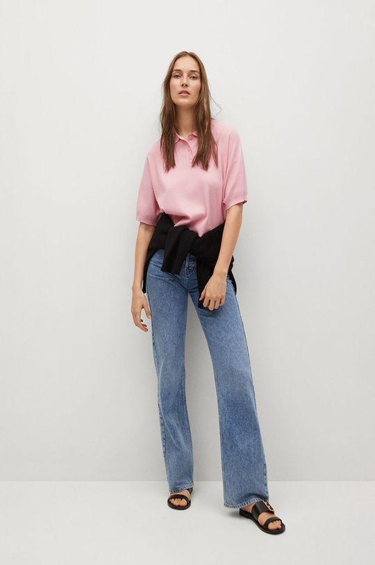 Mango - Polo tričko NURIET ružová
