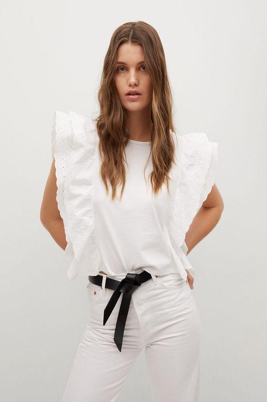 biały Mango - T-shirt ANIS