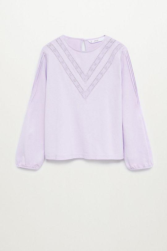 purpurový Mango Kids - Detské tričko s dlhým rukávom MATILDA Dievčenský