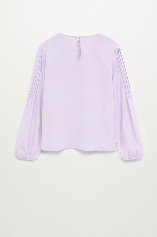 Mango Kids - Detské tričko s dlhým rukávom MATILDA purpurový