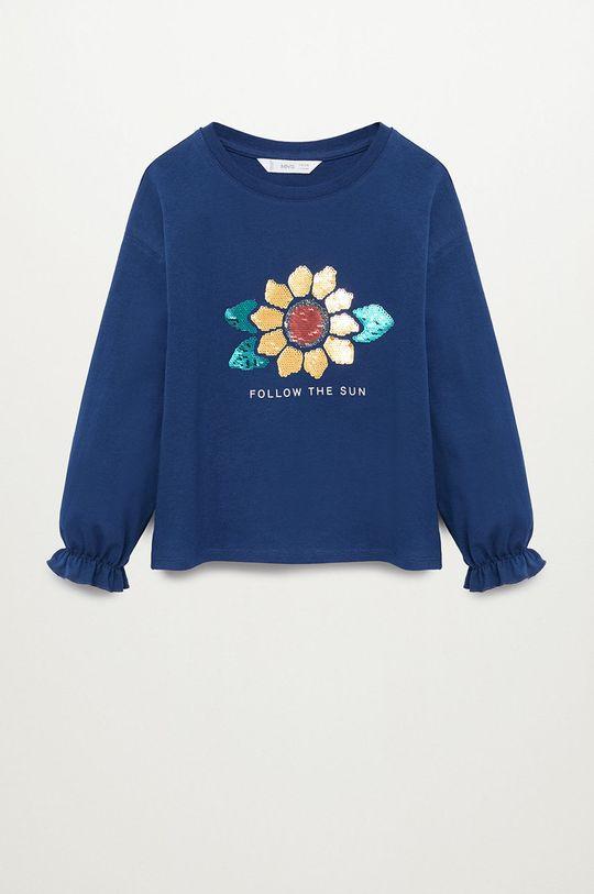 modrá Mango Kids - Detské tričko s dlhým rukávom GIRASOL Dievčenský