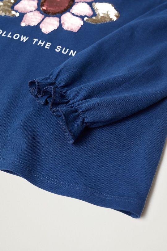 Mango Kids - Detské tričko s dlhým rukávom GIRASOL modrá