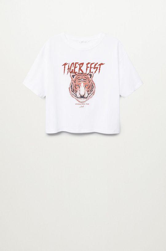 biela Mango Kids - Detské tričko COOL Dievčenský