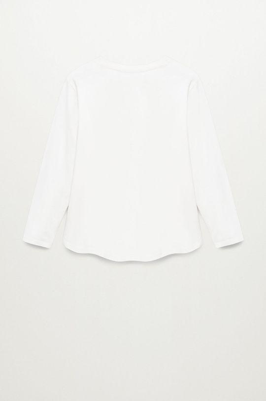 biela Mango Kids - Detské tričko s dlhým rukávom BROOK
