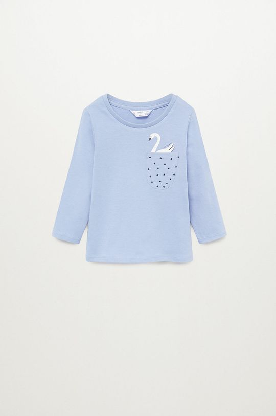 modrá Mango Kids - Detské tričko s dlhým rukávom MARINA Dievčenský