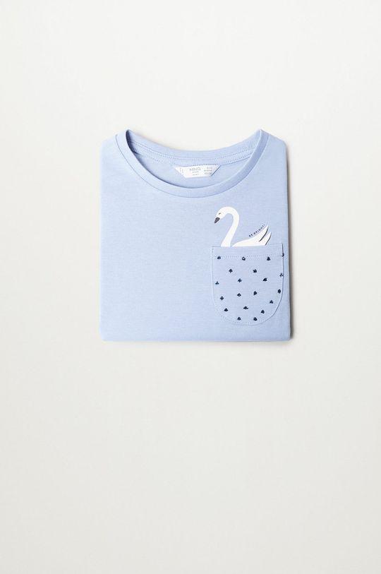 modrá Mango Kids - Detské tričko s dlhým rukávom MARINA