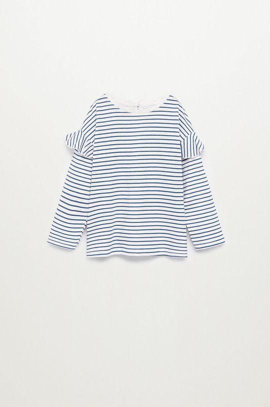 modrá Mango Kids - Detské tričko s dlhým rukávom OLIVIA Dievčenský
