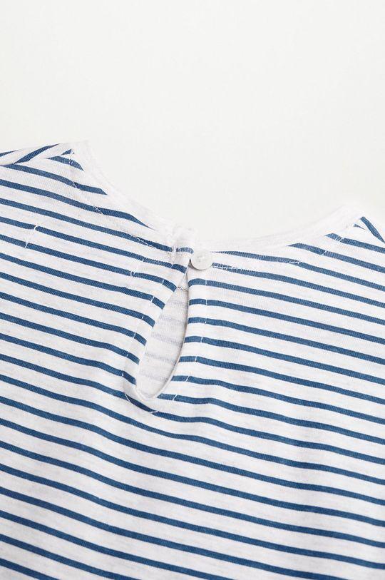 Mango Kids - Detské tričko s dlhým rukávom OLIVIA modrá