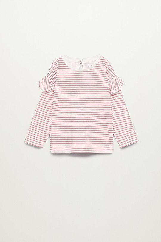 roz Mango Kids - Longsleeve copii OLIVIA De fete
