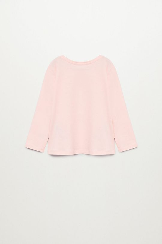 Mango Kids - Detské tričko s dlhým rukávom CORDILL pastelová ružová