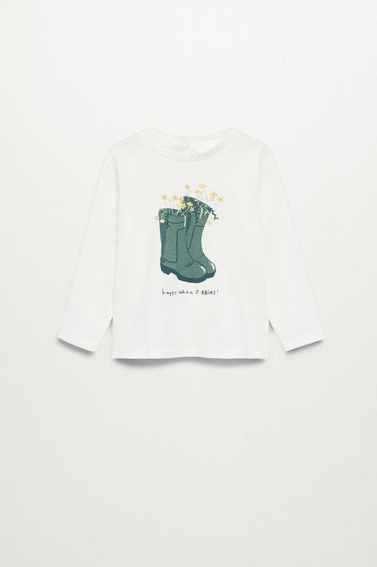 biały Mango Kids - Longsleeve dziecięcy BOOTS Dziewczęcy