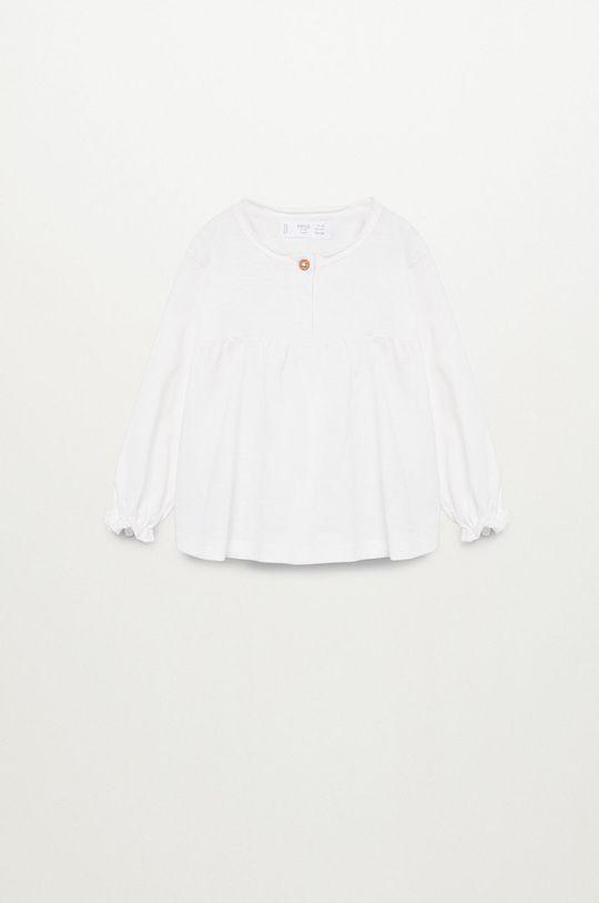 biały Mango Kids - Bluzka dziecięca Brillo7 80-104 cm Dziewczęcy