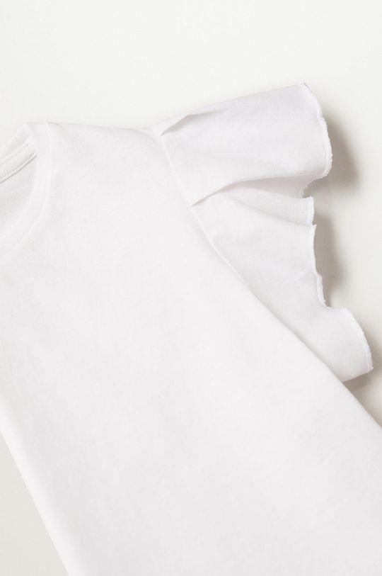 Mango Kids - Detské tričko Soft 110-164 cm biela