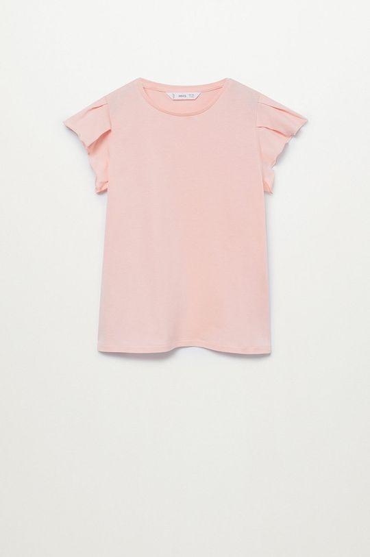 pastelová ružová Mango Kids - Detské tričko Soft 110-164 cm Dievčenský