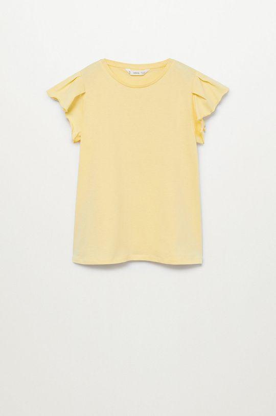 žltá Mango Kids - Detské tričko Soft 110-164 cm Dievčenský