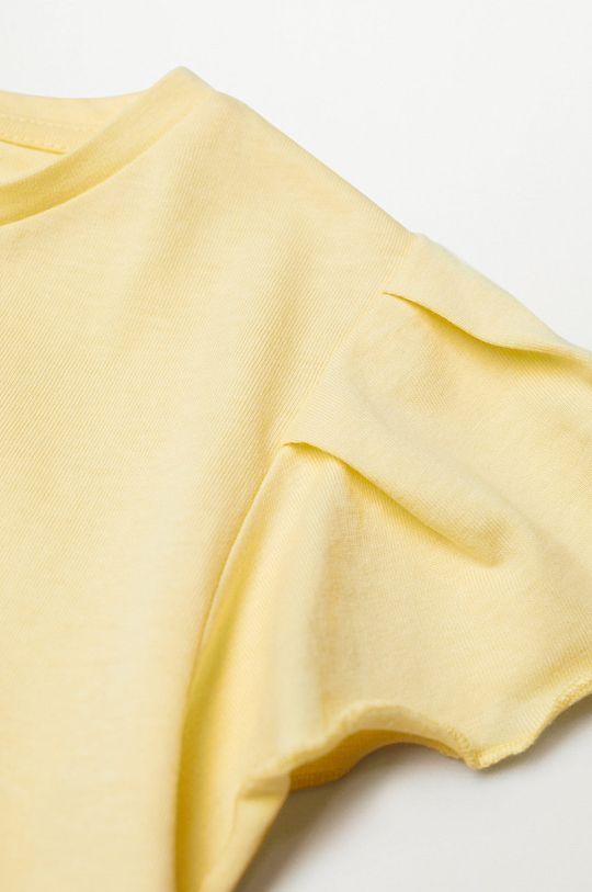 Mango Kids - Detské tričko Soft 110-164 cm žltá