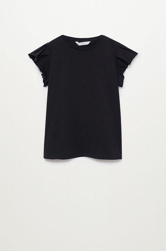 čierna Mango Kids - Detské tričko Soft 110-164 cm Dievčenský