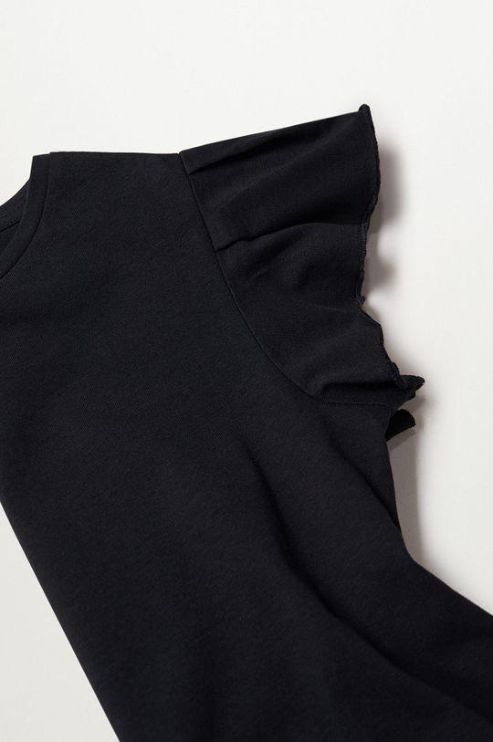 Mango Kids - Detské tričko Soft 110-164 cm čierna