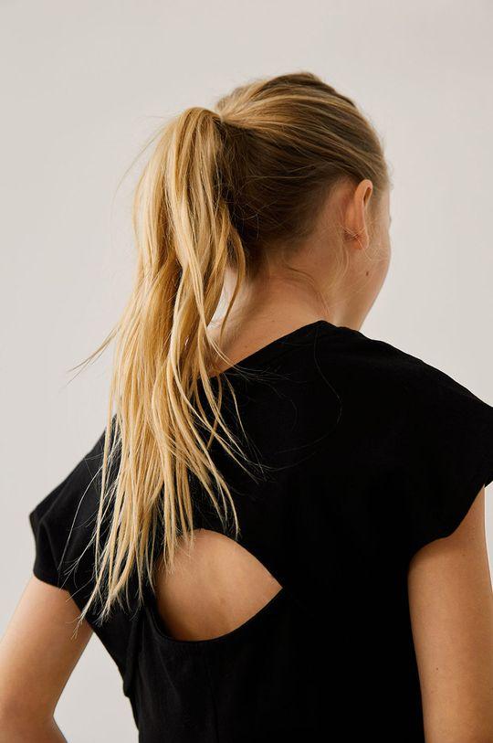 Mango Kids - Dětské tričko PRESENT černá