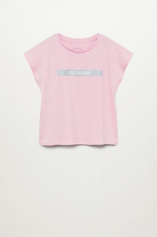 růžová Mango Kids - Dětské tričko AHEAD Dívčí