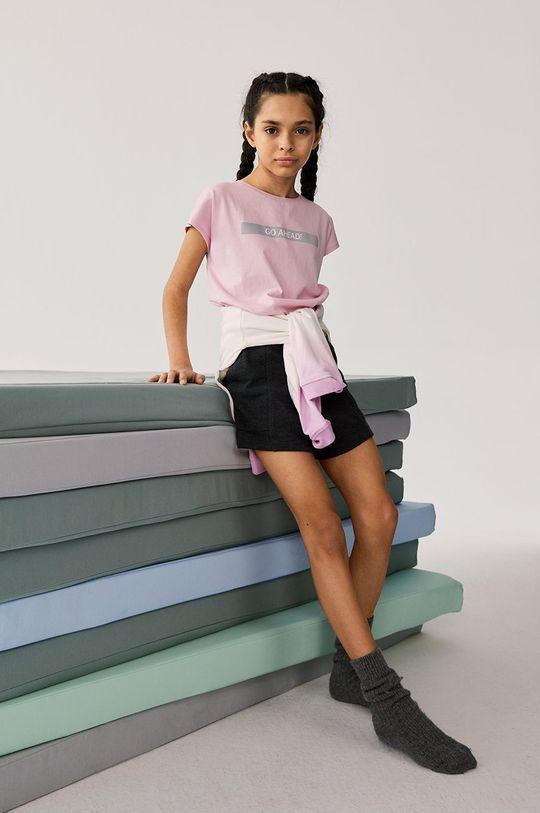 Mango Kids - Dětské tričko AHEAD růžová