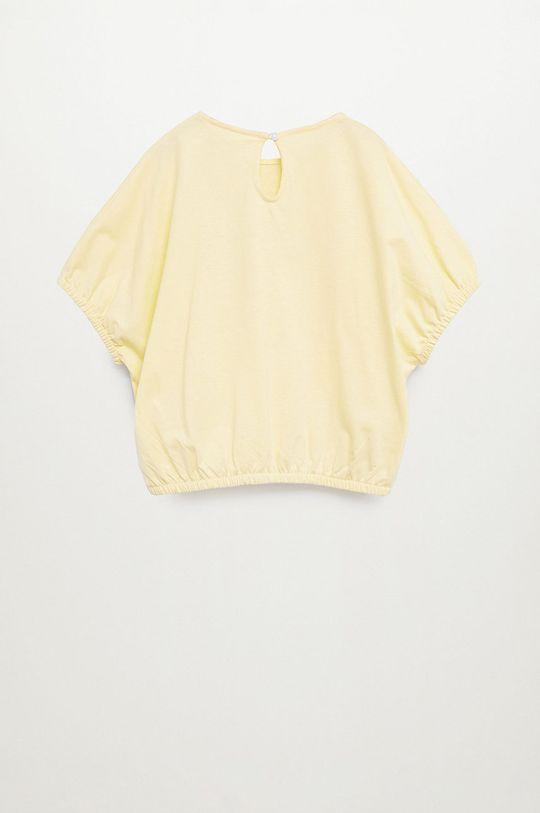 Mango Kids - Dětské tričko WORDS žlutá