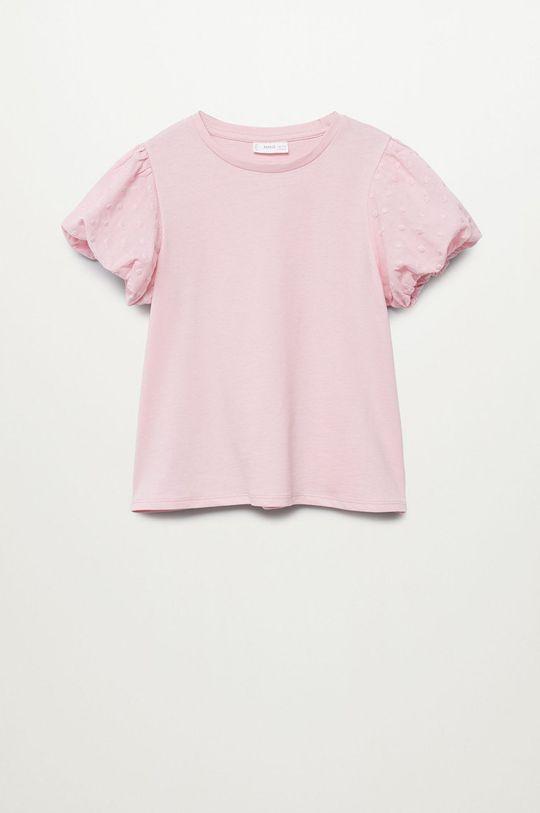 pastelově růžová Mango Kids - Dětské tričko PLUME Dívčí