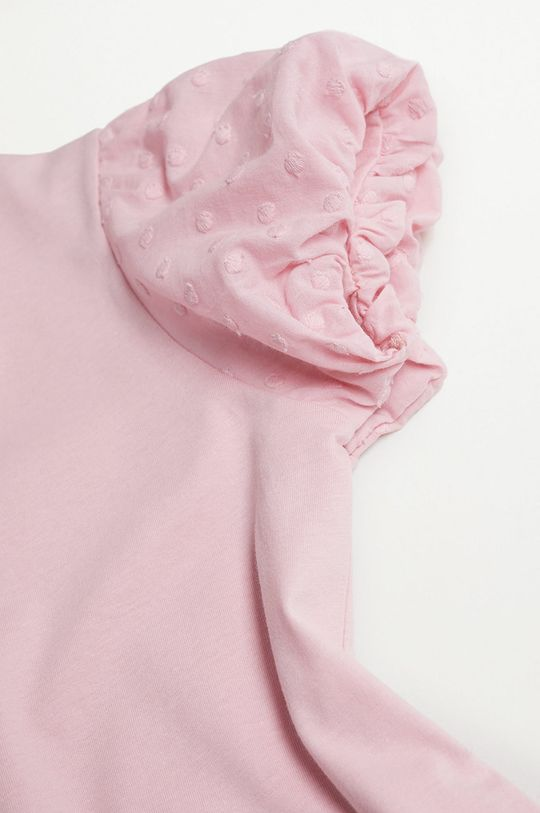 Mango Kids - Dětské tričko PLUME pastelově růžová