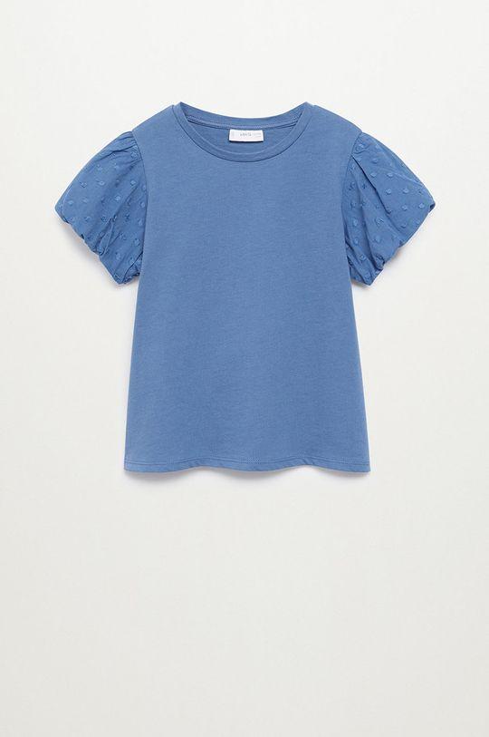 modrá Mango Kids - Dětské tričko PLUME Dívčí