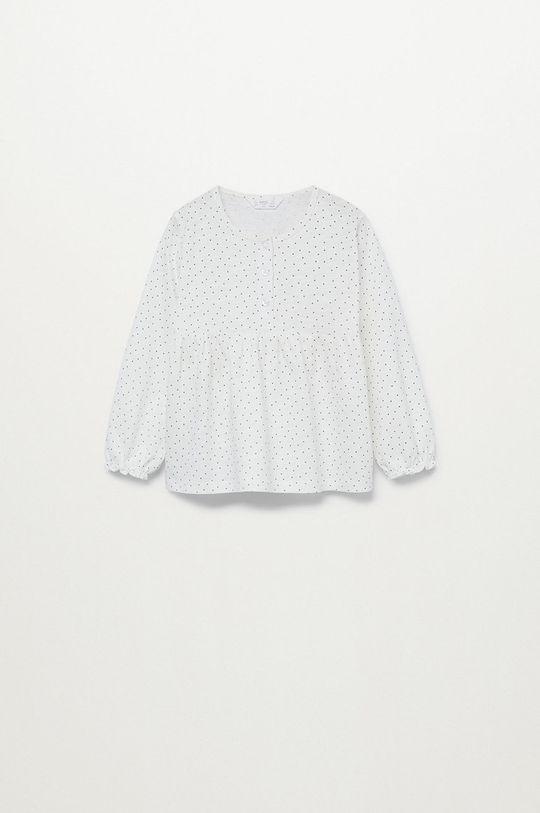biały Mango Kids - Bluzka dziecięca LINAB Dziewczęcy