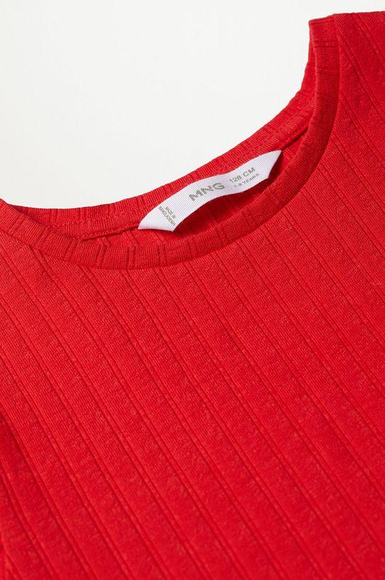 Mango Kids - T-shirt dziecięcy Jane 116-164 cm czerwony