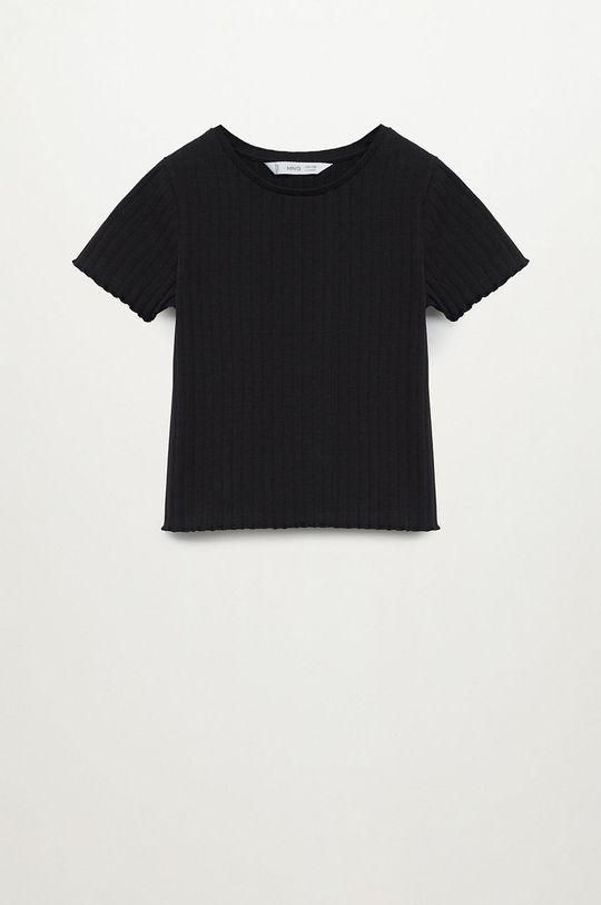 czarny Mango Kids - T-shirt dziecięcy Jane 116-164 cm Dziewczęcy