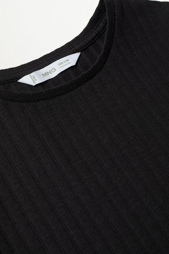 Mango Kids - T-shirt dziecięcy Jane 116-164 cm czarny