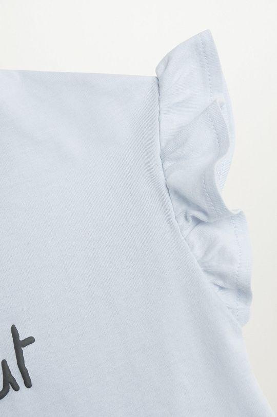 Mango Kids - T-shirt dziecięcy Boleta 80-104 cm blady niebieski