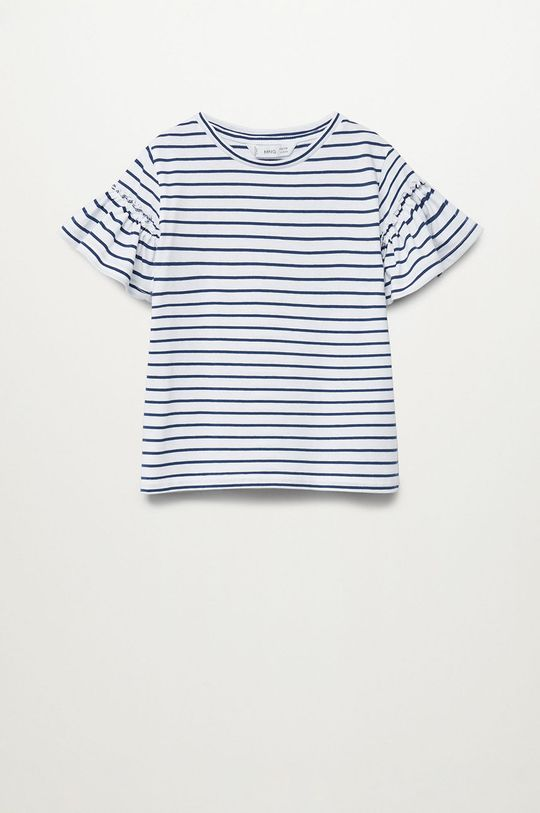 granatowy Mango Kids - T-shirt dziecięcy Bande 110-164 cm Dziewczęcy