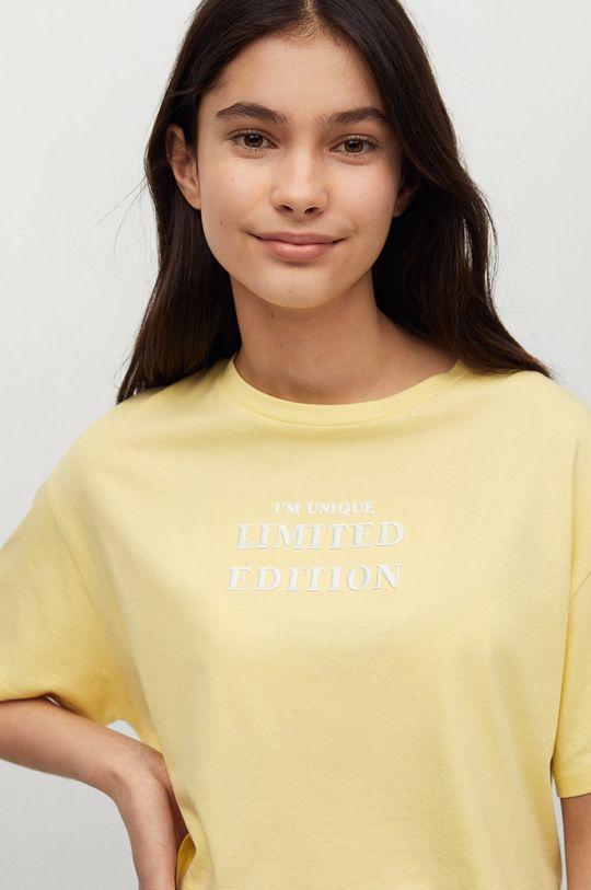 żółty Mango Kids - T-shirt dziecięcy Hero Dziewczęcy