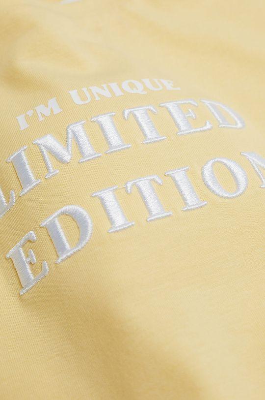 żółty Mango Kids - T-shirt dziecięcy Hero