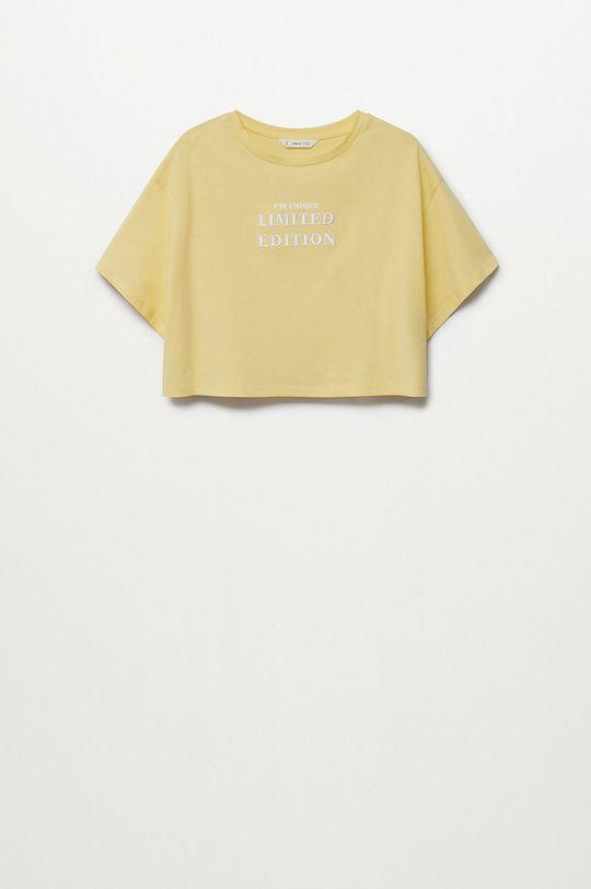 Mango Kids - T-shirt dziecięcy Hero Dziewczęcy