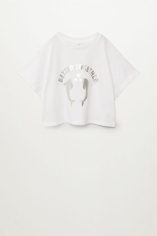 biela Mango Kids - Detské tričko Vacances 116-164 cm Dievčenský