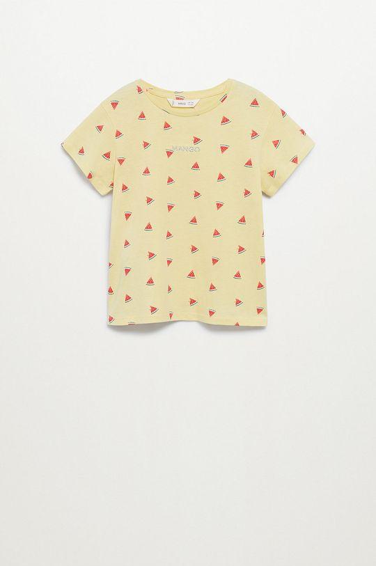 żółty Mango Kids - T-shirt dziecięcy Mangolo-H 116-164 cm Dziewczęcy