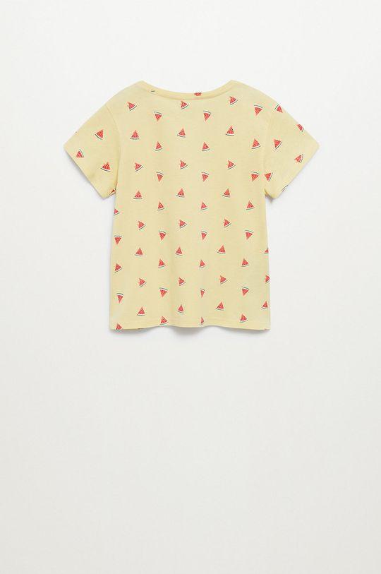Mango Kids - T-shirt dziecięcy Mangolo-H 116-164 cm żółty