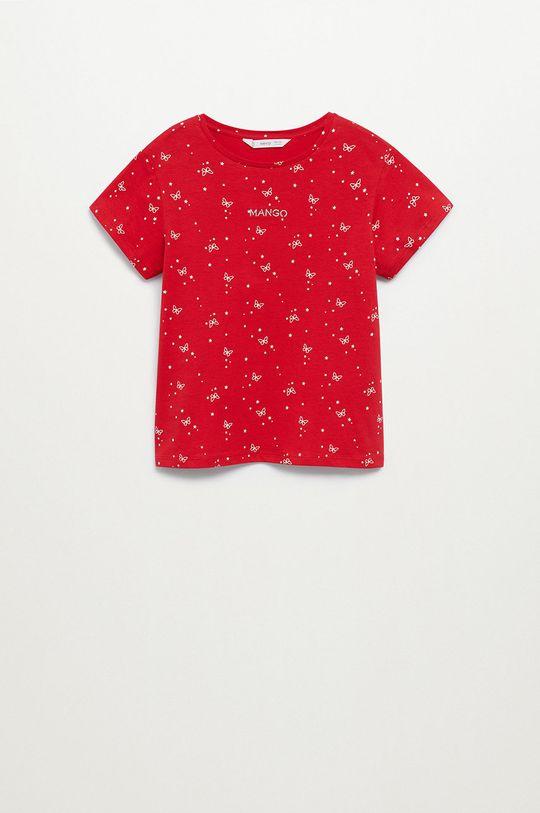 czerwony Mango Kids - T-shirt dziecięcy Mangolo-H 116-164 cm Dziewczęcy