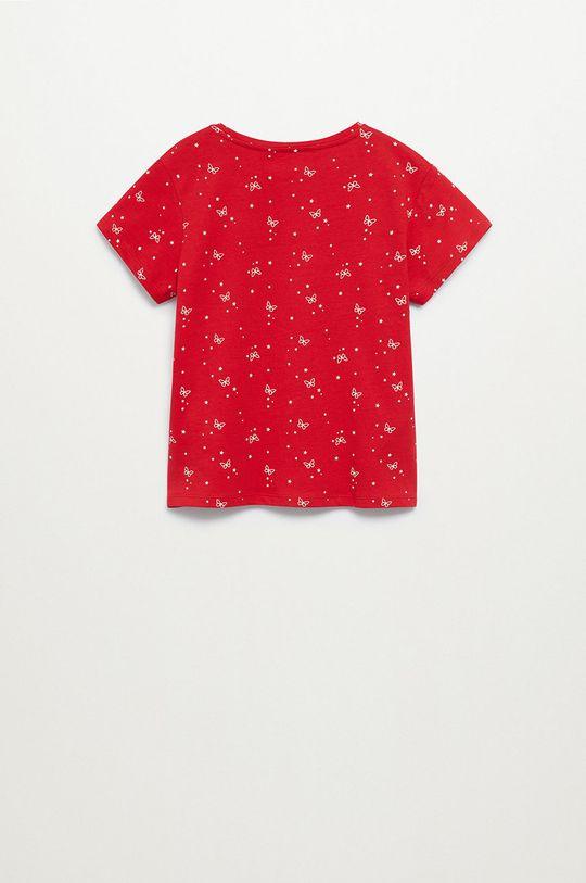 Mango Kids - T-shirt dziecięcy Mangolo-H 116-164 cm czerwony