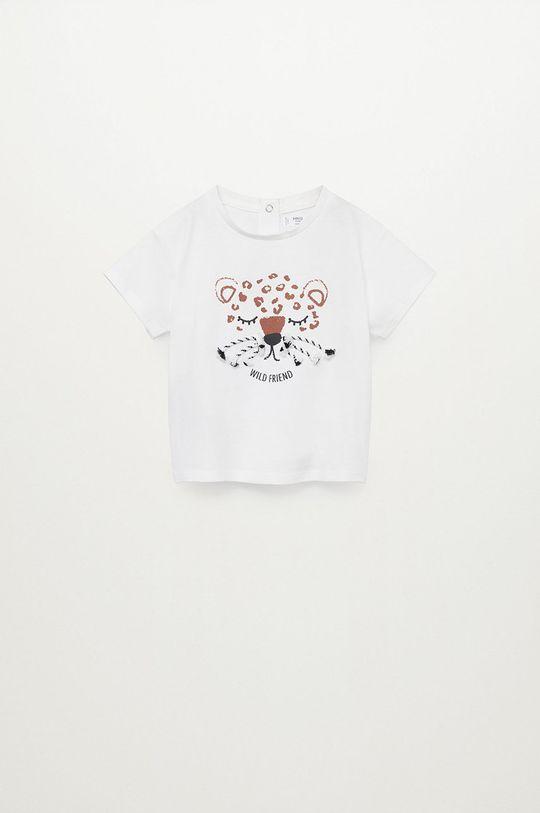 bílá Mango Kids - Dětské tričko BIGOTE Dívčí