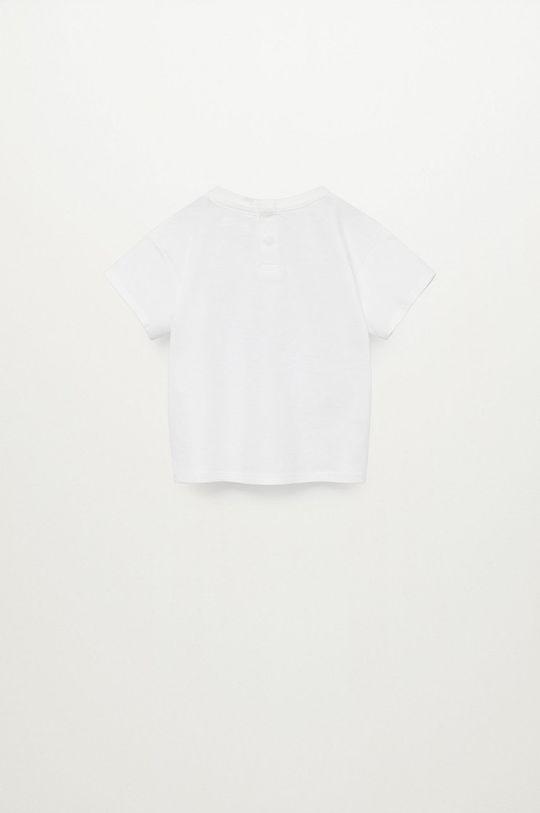 Mango Kids - Dětské tričko BIGOTE bílá