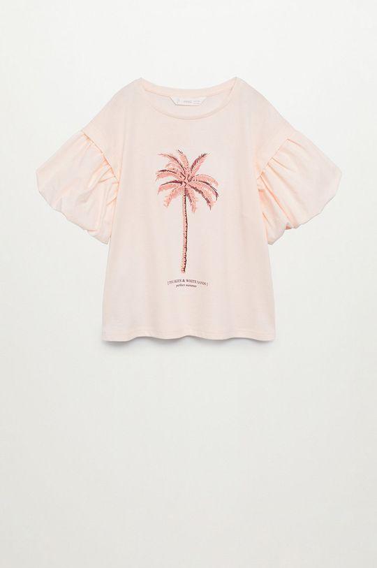 pastelowy różowy Mango Kids - T-shirt dziecięcy Oasis 116-164 cm Dziewczęcy