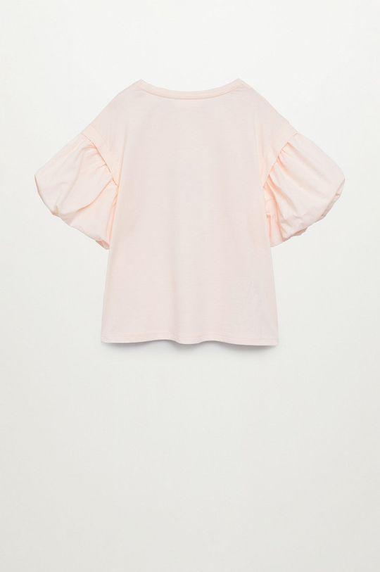 Mango Kids - T-shirt dziecięcy Oasis 116-164 cm pastelowy różowy