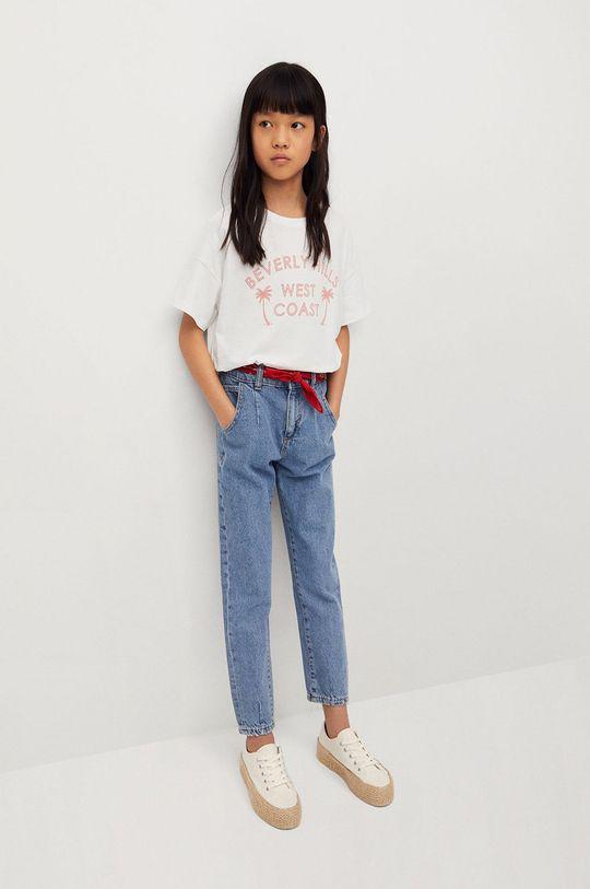 Mango Kids - T-shirt dziecięcy Nica 116-164 cm biały