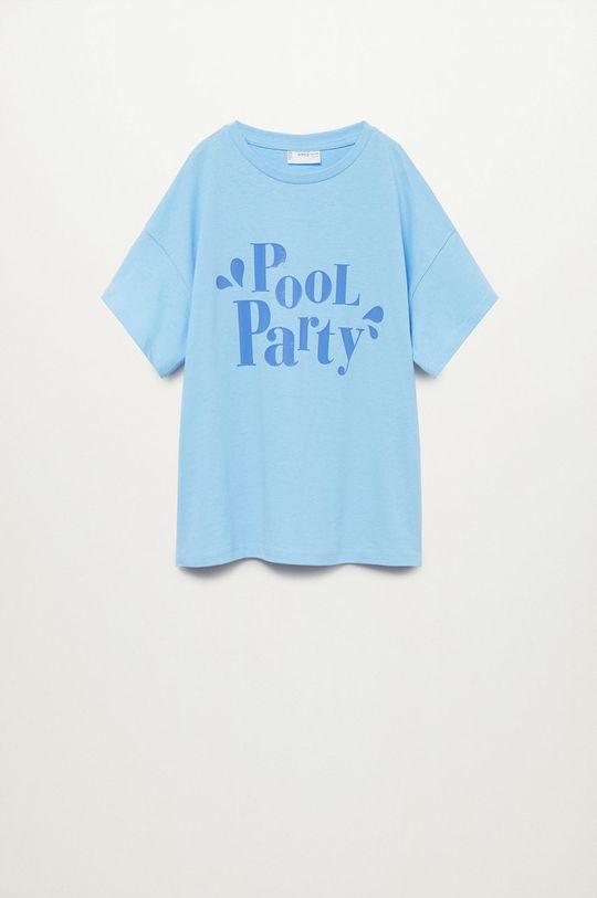 blady niebieski Mango Kids - T-shirt dziecięcy Nica 116-164 cm Dziewczęcy