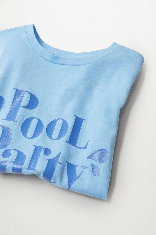 Mango Kids - T-shirt dziecięcy Nica 116-164 cm blady niebieski